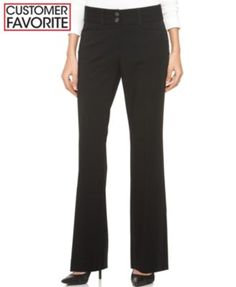 Alfani Two-Button Curvy-Fit Pants, Only at Macy's  | macys.com