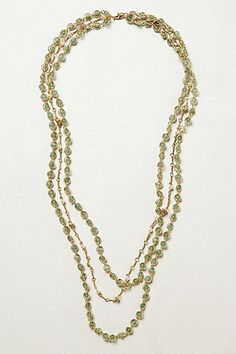 [Layered Cabochon Necklace by Anthropologie]