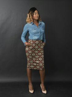 Long skirt in wax print made by n&a Fashion Wax