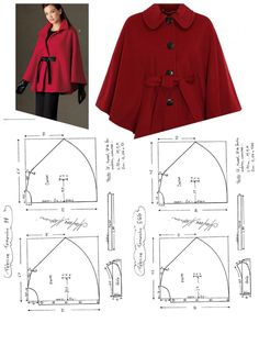 Content-Type: application/octet-stream - Best Sewing Tips Poncho Pattern Sewing, Dress Sewing Patterns, Clothing Patterns, Cape Pattern, Sewing Coat, Sewing Clothes, Diy Clothes, Costura Fashion, Cape Jacket
