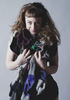 Dharma Trading Co. Featured Artist: Beth Nielsen- upcycled Cashmere apperal