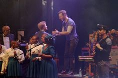 Pin for Later: Prince Harry Joins Coldplay on Stage For a Cause Close to His Heart