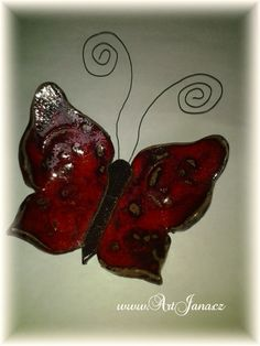 Janin keramický motýl