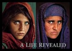 The picture is called The Afghan Girl. A picture shot by Steve McCurry, an American photojournalist. Steve McCurry took a picture of a 12 year old Afghan girl. Her picture became so famous that in National Geographic magazine printed it as their cover. Steve Mccurry, We Are The World, People Around The World, National Geographic Photography, Afghan Girl, Famous Photographers, Interesting Faces, Beautiful Eyes, Beautiful People