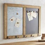 Chalkboard & Magnetic Clip Frame with Hooks