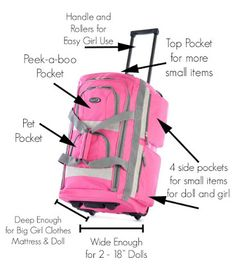 If you know a little girl who loves her American Girl or similar 18-inch doll, you're going to love this simple suitcase conversion.  With n...