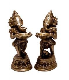 (SKU NO.Ganesha brass A Set of God Ganesha Indian Religious Gift Brass Idol Sculpture Statue Kali Statue, Saraswati Statue, Lord Shiva Statue, Krishna Statue, Ganesha, Jai Ganesh, Brass Statues, Religious Gifts, Indian Gods