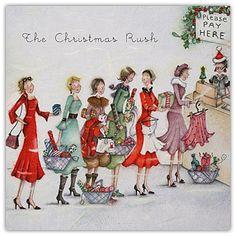 The Christmas Rush , Ladies Who Love Life ... Berni Parker funny cute art Berni Parker Designs