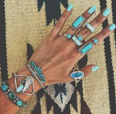 Bohemian fashion jewelry, gem stone rings , turquoise rings,  Bohemian fashion jewelry http://www.justtrendygirls.com/bohemian-fashion-jewelry/
