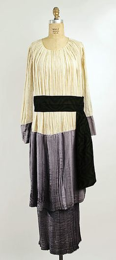 Afternoon dress (image 1) | Callot Soeurs | French | 1915 | cotton, silk | Metropolitan Museum of Art | Accession Number: 1978.184.5a, b