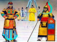 Emperor Taizong with his court, Tang Dynasty China