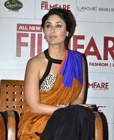 Kareena Kapoor In Sleeveless Blouse And Designer Saree At Filmfare Magazine SEP-13 Issue Launch (30)