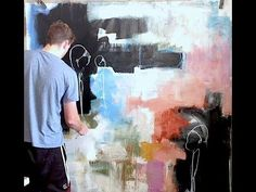 EXTRA LARGE Acrylic Abstract Expressionism - YouTube