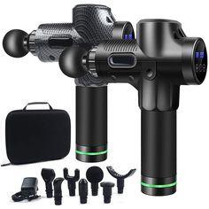 Handheld Muscle Massage Gun - black