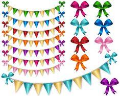 Digital Banner Clipart Digital Bunting Clip Art by KlampDesign Ribbon Clipart, Digital Banner, Printable Scrapbook Paper, Bunting Banner, Elements Of Art, Card Making, Clip Art, Shopping Mall, Cheer Banquet