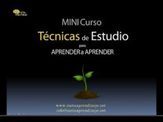 Técnicas de estudio. MINI CURSO GRATIS. - YouTube