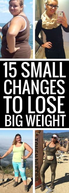 15 small changes to your daily lifestyle to lose weight fast. Weight Loss Program, Weight Loss Tips, Losing Weight, Loose Weight, How To Lose Weight Fast, Fitness Diet, Health Fitness, Get Skinny, Get In Shape