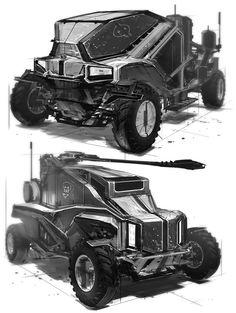 Feng Zhu Concept Art Vehicle