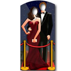 Red Carpet Stand In Photo Cardboard Cut Out Party Decoration - 1.8m