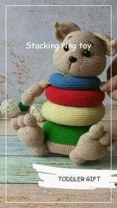 Crochet Baby Toys, Crochet Amigurumi Free Patterns, Crochet For Kids, Crochet Animals, Crochet Dolls, Crochet Patron, Crochet Christmas Decorations, Toddler Gifts, Amigurumi Doll