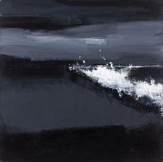 John Virtue, Norfolk No. 14. Acrylic, black ink and shellac on canvas