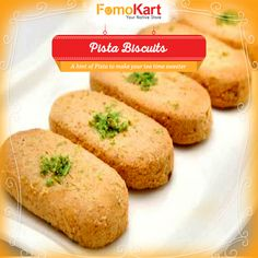 A baked goods lover's paradise, #Karachi Bakery's new flavour in store. order at www.fomokart.com  #Pista #Biscuits #snacks