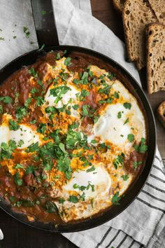 Some of my best recipes come from epic brainstorming sessions with friends. We usually start with one meal that one of us had and riff from there. A recent conversation left me with curried eggs that