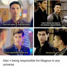Imagen de maleç and shadowhunters Shadowhunters Tv Show, Shadowhunters The Mortal Instruments, Magnus And Alec, Alec Lightwood, Shadow Hunters, Book Fandoms, Immortal Instruments, Clace, Cassandra Clare Books