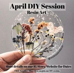 Epoxy Resin Art, Diy Resin Art, Diy Resin Crafts, Diy Craft Projects, Uv Resin, Art Floral, Diy Workshop, Workshop Design, Resin Uses