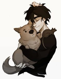 I think that Nico would be an animal lover if he wasn't the son of the lord of the dead...