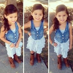 Such a cute little girls outfit ... Too bad any child of mine would get it dirty in 10 seconds. Still cute. Little Audrey or Adrianna