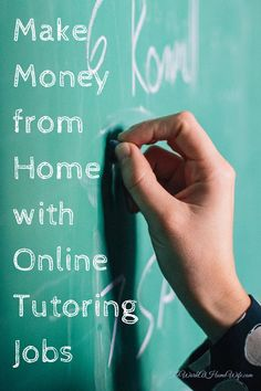Online tutoring jobs can be a great way to make money from home. And they aren't just available to those with a formal teaching degree. Making Money, Making Money Ideas, Making Money Online Making Money money making ideas