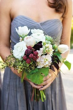 Berry Beautiful Bouquet (BridesMagazine.co.uk) If we get hungry during the ceremony.... ;)