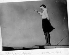 Ivana Tomljenović on the Bauhaus roof, 1929 -by Naf Rubinstein