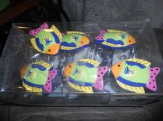 12 Decorative Shower Curtain Hooks in packaging Fish by EMTWTT, $14.99