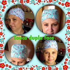 Que tal aprender a fazer essa linda prática e super vendável touca dupla face.   Uma ótima opção para que trabalha na área da saúde ...