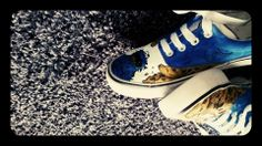 Cookie Monster trainers.  https://www.facebook.com/photo.php?fbid=401677773277075&set=a.266868620091325.56487.250924128352441&type=3&theater