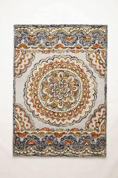 anthropologie Tufted Suzani Rug 9'x 12' $1698