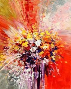 Tropic Intensity, flower painting by Tatiana iliina