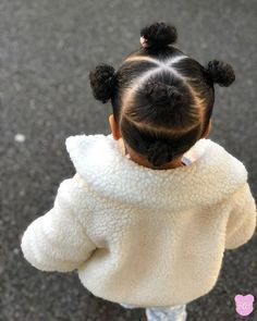 Likes, 21 Comments - Home for Natural Hair Lovers (Natural Hair Loving) on. Black Baby Girl Hairstyles, Little Girls Natural Hairstyles, Toddler Braided Hairstyles, Kids Curly Hairstyles, Mixed Baby Hairstyles, Hairstyle For Baby Girl, Infant Hairstyles, Weave Hairstyles, Girl Hair Dos