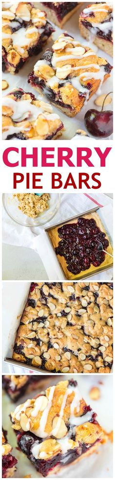 Cherry Bars — a cross between a pie bar and a crumb bar, this recipe ...