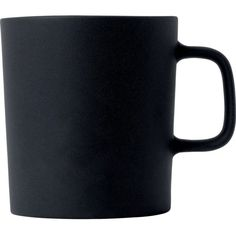 ROYAL DOULTON Olio black mug 300ml ($20) ❤ liked on Polyvore featuring home, kitchen & dining, drinkware, inspirational mugs, black drinkware, royal doulton mugs, royal doulton and ceramic mugs