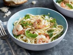Get Linguine with Shrimp and Lemon Oil Recipe from Food Network