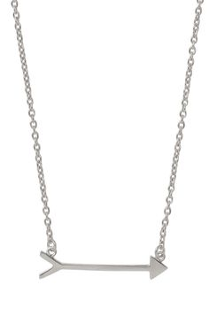 Sterling Silver or Gold Vermeil Arrow Necklace | On the Mark Necklace | Stella & Dot