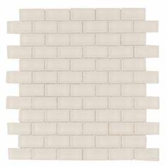 Bianco Brick Matt Mosaic Glass Tile 8mm, $9.99/sf