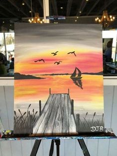 Acrylic Painting Ideas Step By Step Cute Canvas Paintings, Easy Canvas Painting, Painting & Drawing, Canvas Art, Painting Abstract, Beginner Painting, Pastel Art, Pictures To Paint, Acrylic Art