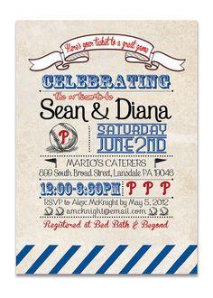 Baseball Themed Wedding Invitations – Baseball Invitations for ...