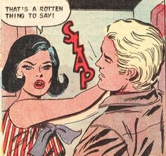 Slap! Funny Vintage Comic Book Art. Pop Art.