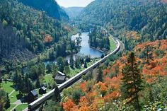 Canada's Group of Seven: Painting Algoma - Northern Ontario, Canada - cool places to go camping - inspired by the group of seven. Ontario Camping, Ontario Travel, Toronto Travel, Train Tour, By Train, Train Art, Vacation Packages, Vacation Spots, Vacation Trips