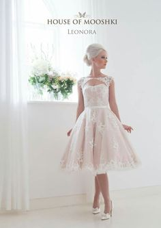 Pretty wedding dress for the older bride or a 2nd marriage